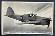 Mint England Valentines Picture Postcard Royal Air Force Raf Hawker Henley Targe