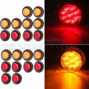 10pair(10red/10amber) Round Shape 2 Side Marker Trailer Rv Clearance Light 12v