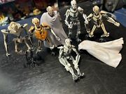 Star Wars Lot Of 6 Different General Grievous Action Figures Hasbro Clone Wars