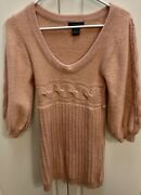 Arden B Beautiful Fitted Sweater Dress Color Peach Size Xs
