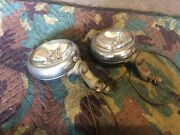 2 Chrome Vintage Unity Two Color Fog And Driving Lights Hot Rod