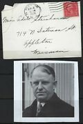 Us 1929 Morgan Larson Autograph Governor Of New Jersey And