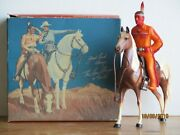 Vintage 1950's Hartland Later Version Tonto And Scout W/original Box Complete