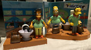 The Simpsons Bowlarama Playsets Bowling Pin Pal Toy Figures Homer Moe And Apu
