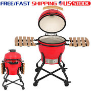 18in Charcoal Barbecue Grill Ceramic Home Outdoor Party Time Us Stock Red