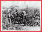 1943 Jeep Laying Communication Cable New Guinea 6.5x8.5 Original News Photo