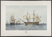 Brierly - The Fleet Off Hango. 12 1855 Fleets Hand-colored Lithograph