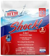 12 Pack Super Shock Treatment Swimming Pool Chlorine Cleaner Clear Water Hth