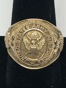 Wwii United States Army Air Force 1943-c 10k Gold Size 9.3/4 Weigh15.80grams