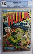 Incredible Hulk 1968 180 Cgc Fn+ 6.5 Off White Pages 1st Cameo Wolverine
