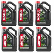 Motul 104083 5100 4t 15w50 Synthetic Blend Motorcycle Oil - 4-liters Pack Of 6