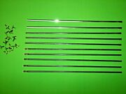 Mercedes W108 W111 W112 Radiator Grill Horizontal Moulding Trim Set And Clips Nos