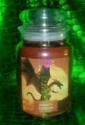 Village Candle 26floz Large Jar Mighty Dragon Up To 170hrs Burn Time Bn Htf