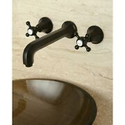 Wall-mount Oil-rubbed Bronze Vessel Faucet Brown