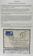 1949 Slovak Serving French Foreign Legion Apo 222 Airmail Cover To Bratislava