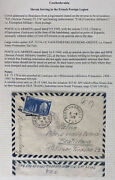 1949 Slovak Serving French Foreign Legion Toe Airmail Cover To Bratislava