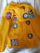 Vintage Patches, Sports Car Racing Of America Racing Jacket 100 Nylon Size...