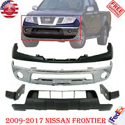 ⭐⭐front Bumper Chrome Kit With Brackets For 2009-2017 Nissan Frontier Truck⭐⭐