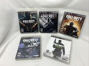 Call Of Duty Black Ops 1 2 3 Trilogy/ghosts/mw3 5 Game Lot Ps3