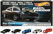 Fast And Furious Special Limited Box 5 Models Car Scale 164 Hot Wheels Gmr15
