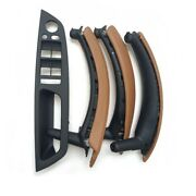For Bmw X5 X6 E70 E71 Inner Door Leather Handle Sattel Brown Pull Trim 2 Holes