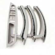 For Bmw X5 X6 E70 E71 Inner Door Leather Handle Grey Pull Trim 2 Holes