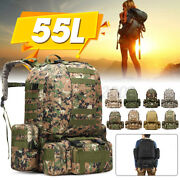 55l Molle Outdoor Military Tactical Bag Camping Hiking Trekking Backpack Us U