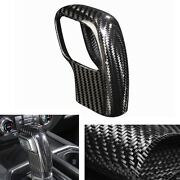 Left Hand Drive Gear Shift Knob Cover Trim For Ford F150 2019-2020 Carbon Fiber