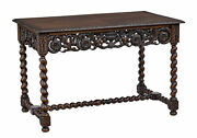 Early 20th Century Carved Oak Side Table By Waring And Gillow