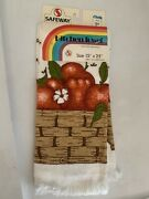 Rare Safeway- Vintage Kitchen Towel Apples In The Basket The Pattern. With Tags