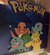 Pokemon Retail Hobby Store Display Sign 2 Pieces Huge 3d