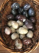 Vintage Alabaster Marble Decorative Eggs - Mixed Lot Of 30 Eggs.