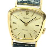 Rolex Precision K18yg Cal.1400 Hand-wound Women And039s Secondhand
