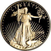 1995-w American Gold Eagle Proof 1 Oz 50 - Coin In Capsule