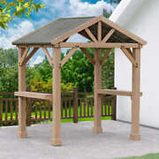 5andrsquo8andrdquo W X 8and039 L Backyard Grilling Pavilion Outdoor Setting