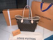 Authentic Lv Louis Vuitton Neverfull Mm Tote Bag With Receipt Box And Dustbag