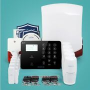 Homsecur Wirelessandwired 4g/3g/gsm Lcd Home Security Alarm System+red Flash Siren