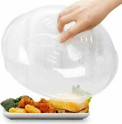 Microwave Cover Plate Clear White Bpa Free Kitchen Dining Anti Splatter Lids New