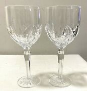 Waterford 8.5 Tall Crystal Marquis Wine Glasses Set Of 2