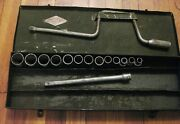 Vintage S-k Tools 1/2 Drive Sherman- Klove Co Box Sockets Extension Speed Wrenc