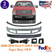 Front Bumper + Lower Valance + Molding + Brackets For 2008-2010 Ford F-250 F-350
