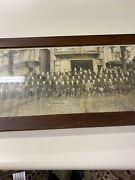 Antique Fire Dept. Firefighters Fireman Photo In Frame
