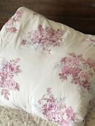 Simply Shabby Chic King Comforter Rose Blush Bouquet Lilacs Cottage Core