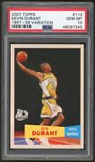 2007 Topps Kevin Durant 1957-58 Variation Rookie Card 112 Psa 10 Nets Low Pop