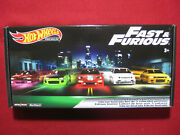 Fast And Furious Hot Wheels Original Premium Box 5 Pack Real Riders Complete Set