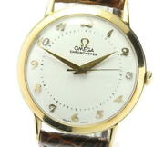 Omega K14yg Cal.371 Lidan Dial Hand-wound Leather Belt Mens Secondhand