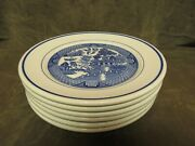 Vintage 1950's Wallace China Restaurant Ware Café Use Blue Willow Ware Plate Lot