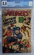 Avengers 4 Cgc 3.5 First Silver Age Appearance Captain America Steve Rogers