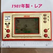 Nintendo Vintage Game And Watch Made In 1981 Mickey Mouse From Japan