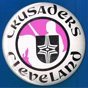 Cleveland Crusaders Logo Large 6 Inch World Hockey Association Wha Button Pin